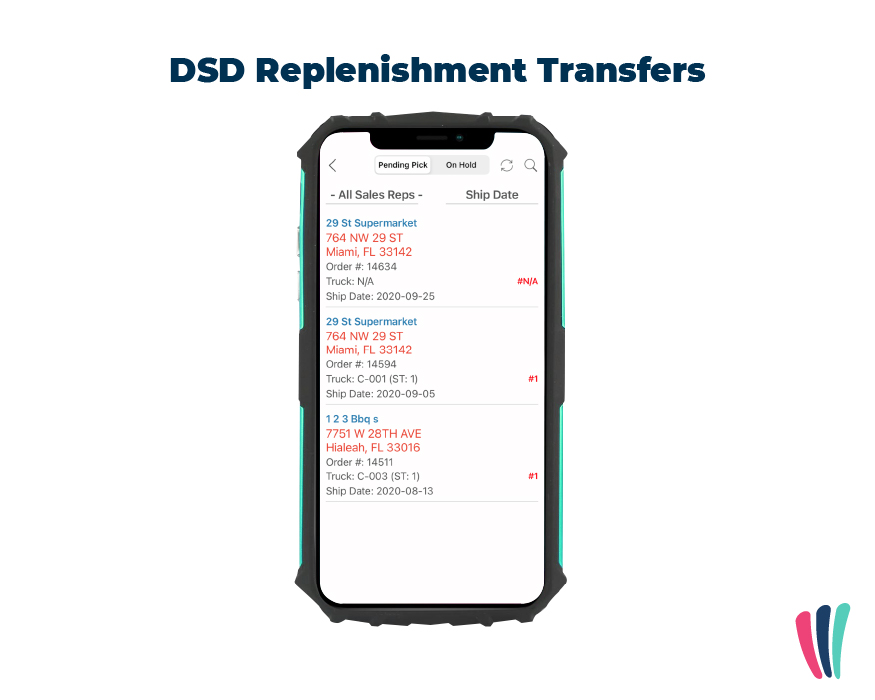 DSD replenishment transfers